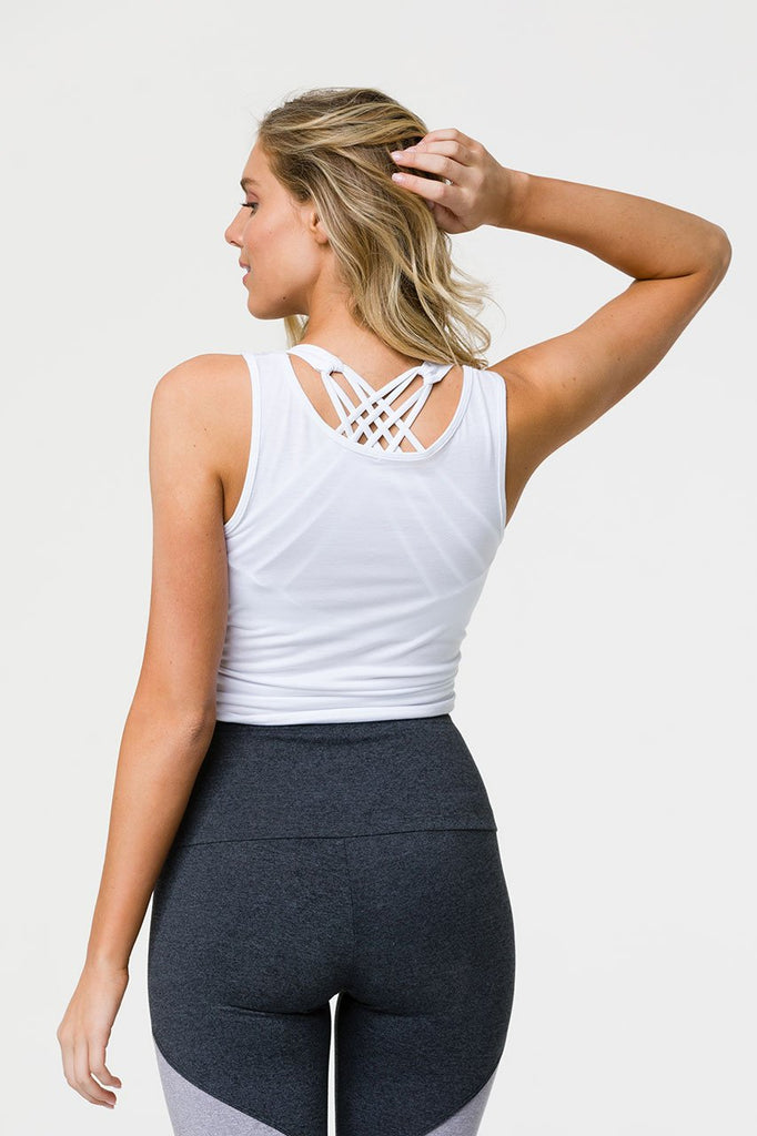 ONZIE Knot Crop Top White - SPORTLES.com
