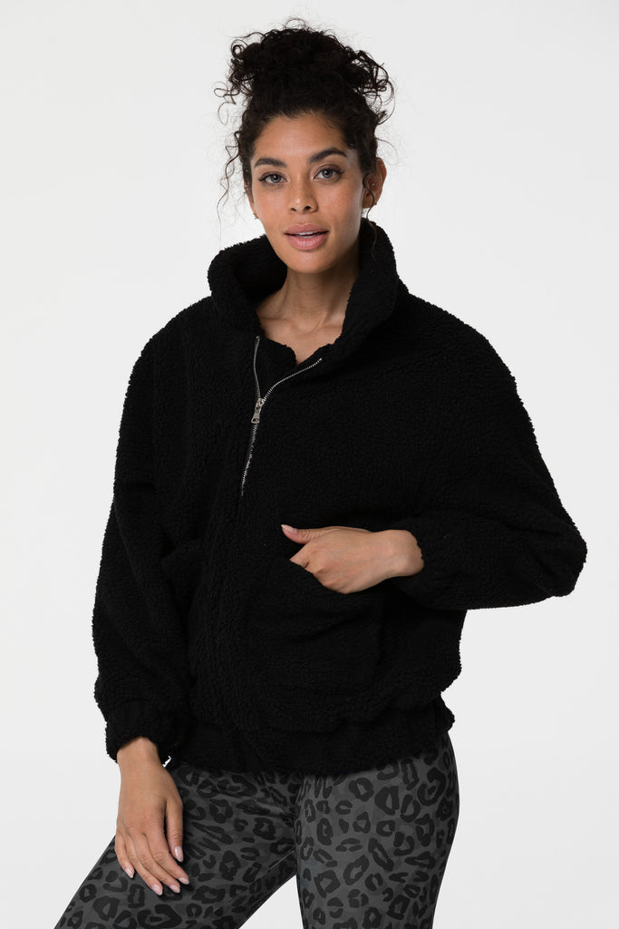 ONZIE Teddy Jacket Black - SPORTLES.com