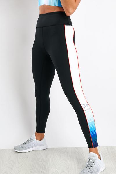 P.E NATION Lineal Success Legging Black - SPORTLES.com