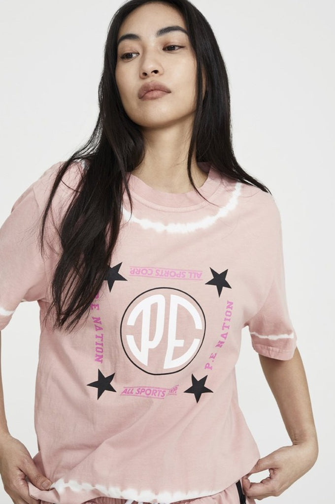 P.E NATION - P.E NATION Co-Driver Tee Pale Pink - SPORTLES.com