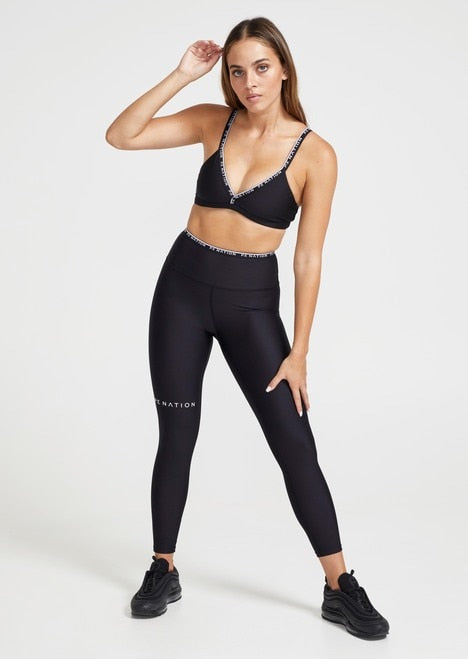 P.E NATION Power Play Sports Bra Black | Shop Online Activewear SPORTLES.com