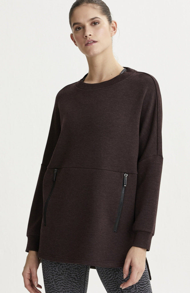 VARLEY Bayliss Chocolate Heather Sweater | Shop Online SPORTLES.com