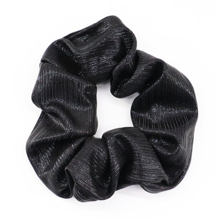 SPORT.LES - SPORT.LES Scrunchie Metallic Black - SPORTLES.com