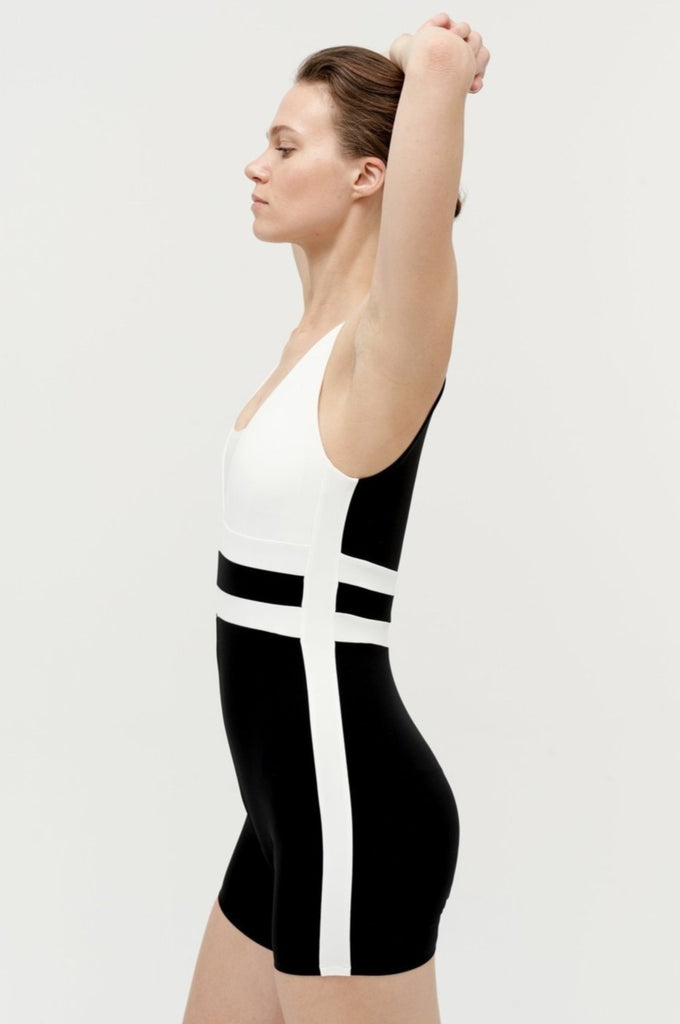 VAARA Romy Shortie Bodysuit Black Ivory | Shop Online SPORTLES.com