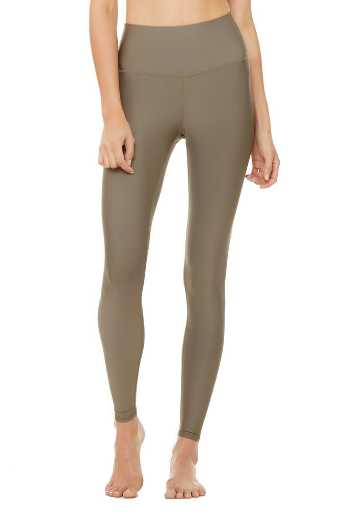 ALO YOGA High-Waist Airlift Legging Olive - SPORTLES.com