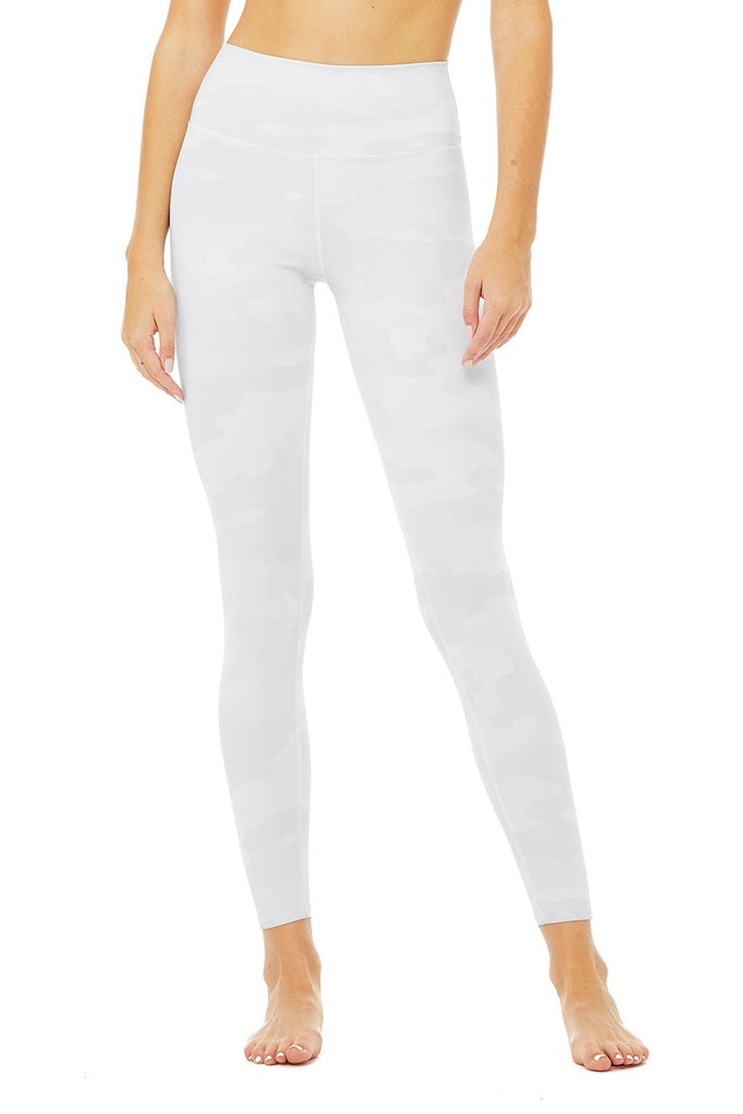 Shop Online ALO YOGA High-Waist Vapor Legging White Camouflage SPORTLES.com
