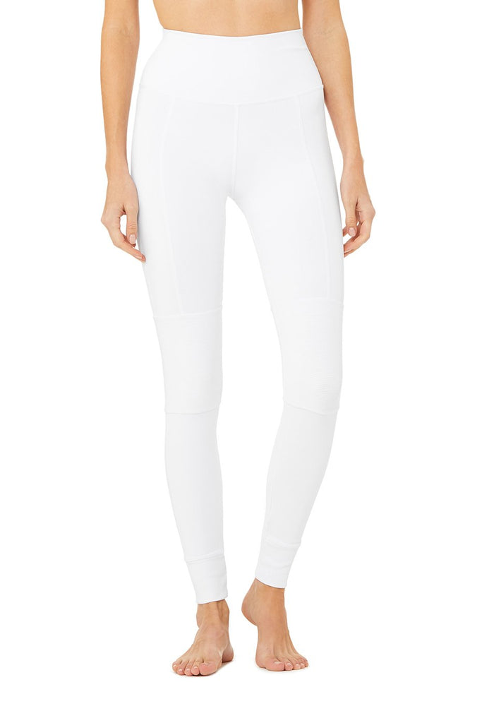 ALO YOGA High-Waist Avenue Legging White SPORTLES.com