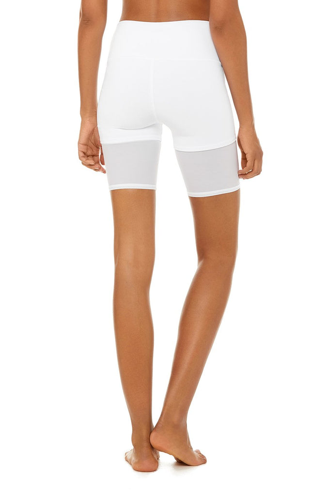 ALO YOGA High-Waist Lavish Short White | Shop Online SPORTLES.com