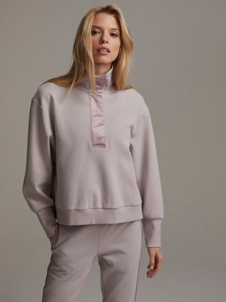 VARLEY Huston Rib Pique Sweat Quail | Shop Online SPORTLES.com