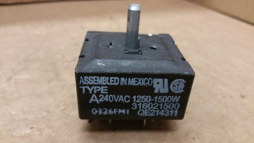 FRIGIDAIRE RANGE BURNER SWITCH- 316021500/ 316436000
