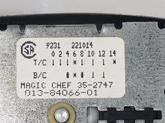 Maytag Washer Timer 35-2747  013-84066-01