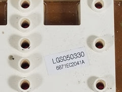 6871EC2041A LGS050330 LG FRONT LOAD DRYER CONTROL BOARD