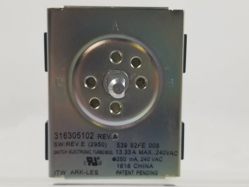 FRIGIDAIRE SURFACE ELEMENT SWITCH-  316305102