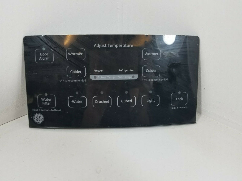 GE Refrigerator Dispenser User Interface Control (BLACK) 200D7355G052 WR55X10803