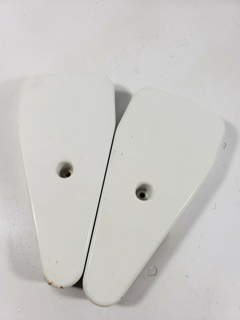 "GE REFRIGERATOR HINGE COVER ""BISQUE"" - PART# WR02X11407 197D3408 ***SET OF 2***"