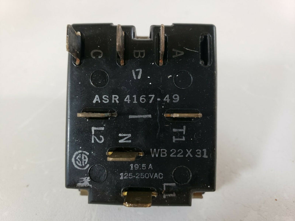 WB22X31 - ASR4167-49 GE Oven Selector Switch