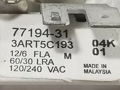 MAYTAG REFRIGERATOR THERMOSTAT COLD CONTROL 77194-31 3ART5C193