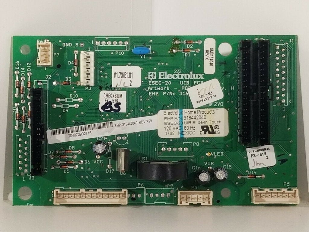 Frigidaire 316442040 Range User Interface Control Board 316442040