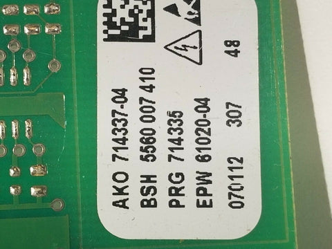 5560007410 BOSCH WASHER MACHINE BOARD 5560007410 714337-04 714335 61020-04