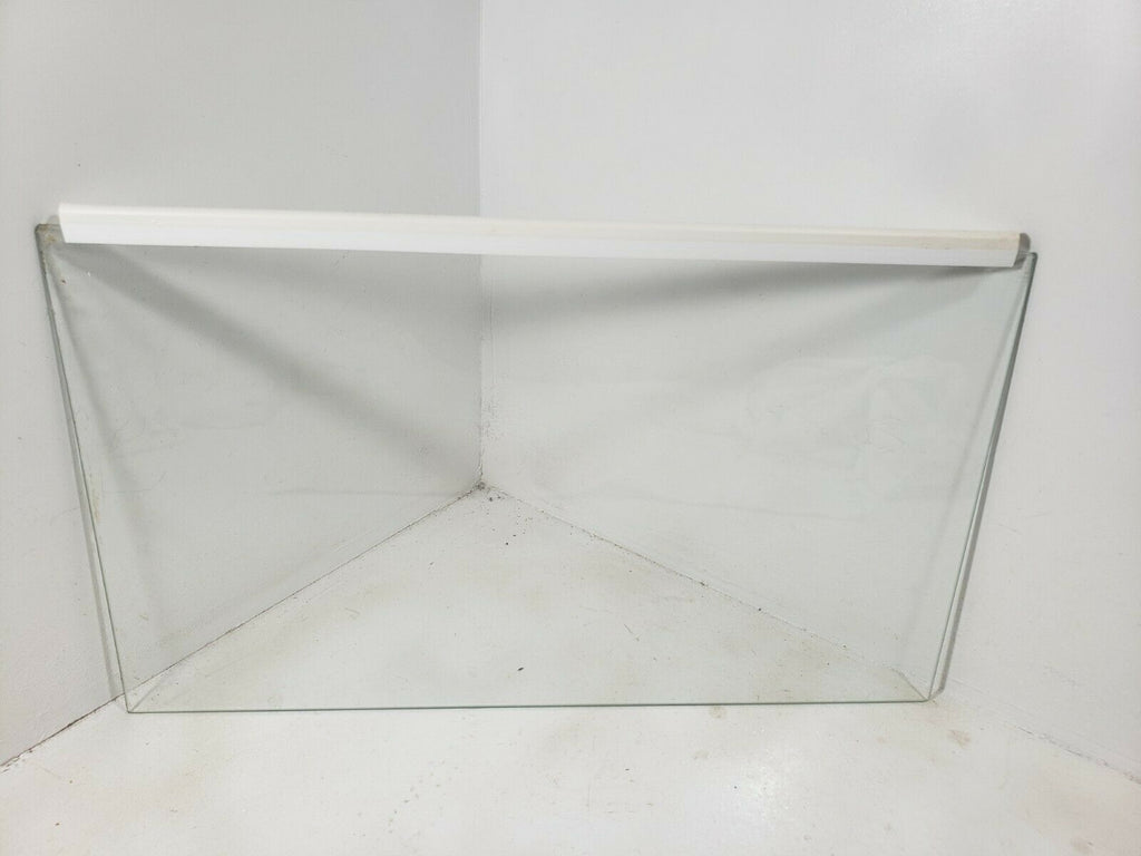Refrigerator glass shelf 16 5/6 inch x 9 5/6 inches (without seal)