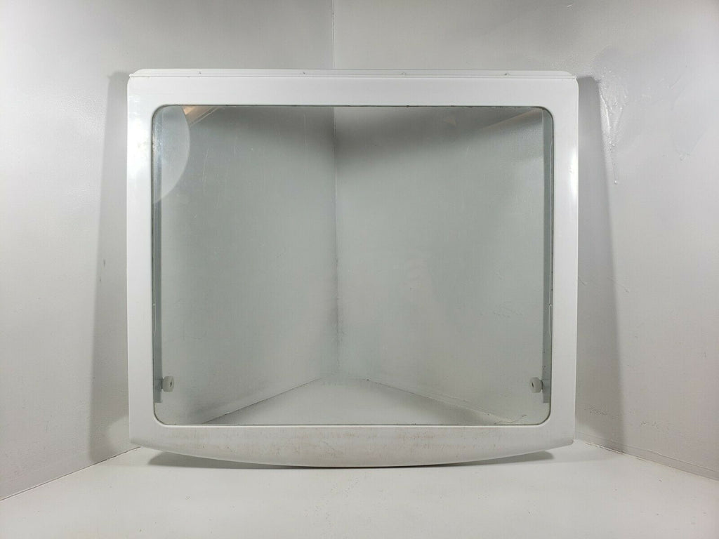 GE Hotpoint Refrigerator Deli Drawer Cover Frame & Glass WR32X10566 SEE PHOTOS