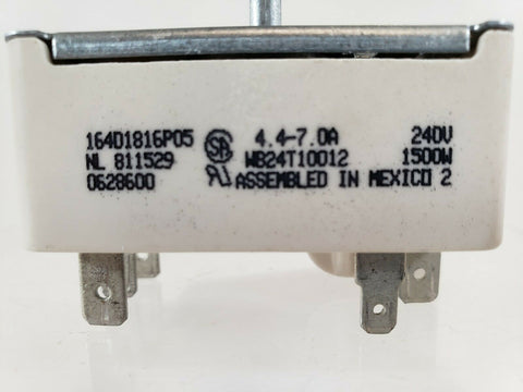 GENERAL ELECTRIC Range Oven Infinite Warmer Switch WB24T10012 164D1816P005