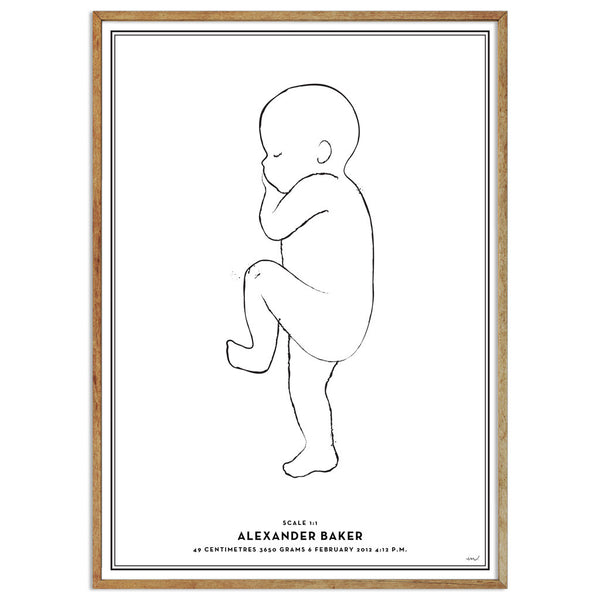 Birth Art Print - Minimal