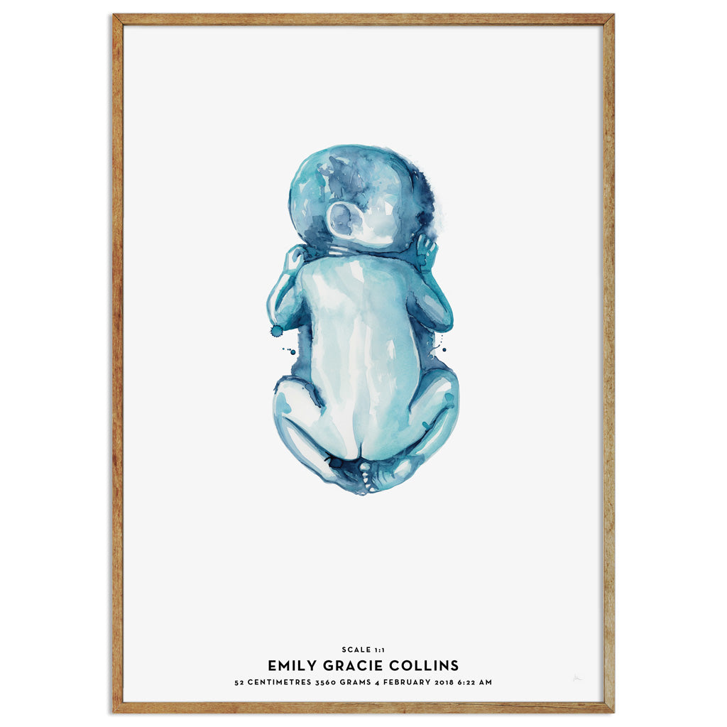 Birth Art Print | Mika | Ocean
