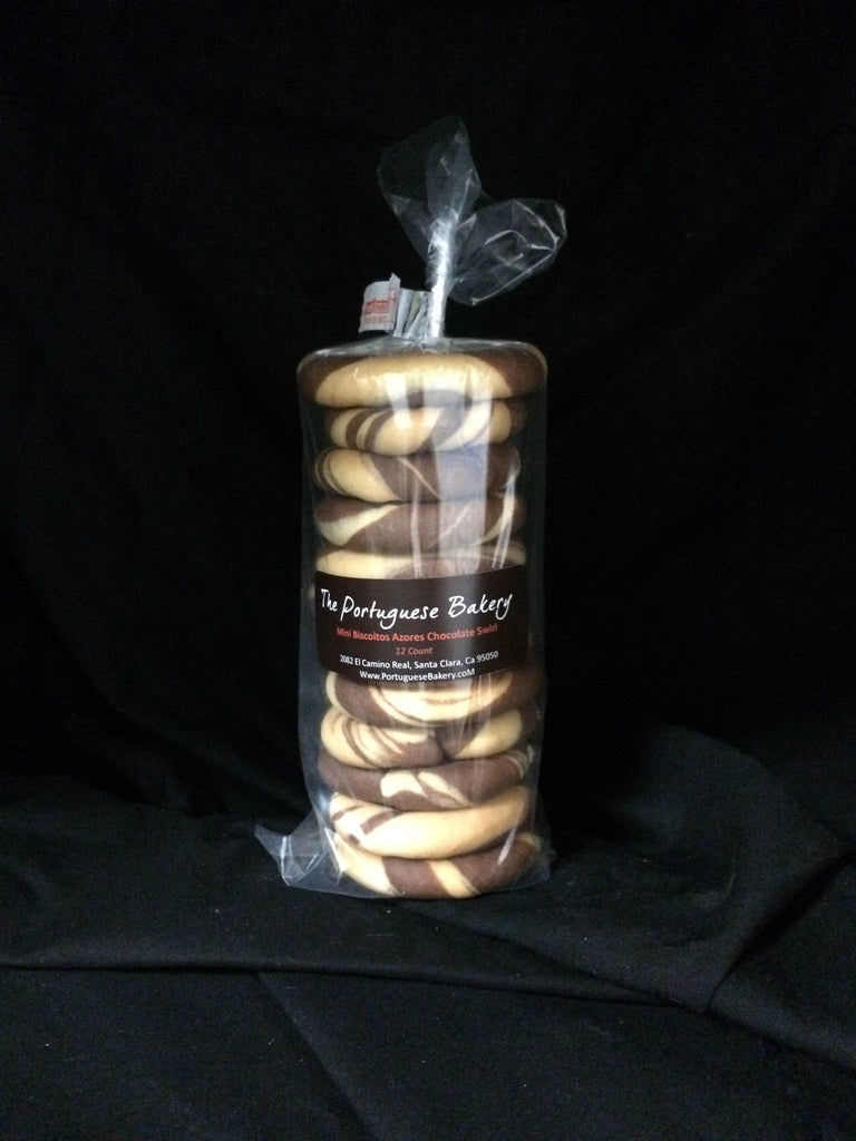 Chocolate Swirl Biscoitos Small Stack Mini 12Ct. (3.5oz)