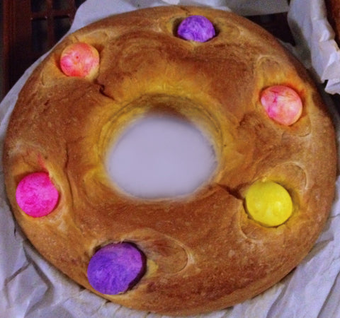 Easter Sweet Bread Rosquilha Jumbo 4Egg 24oz (680g) (Available Easter 2018)