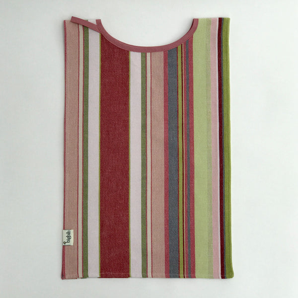 Big Bib Tunic flat - Cotton Stripe Bigbib, Pink/Green