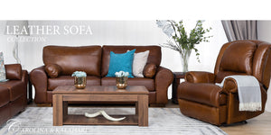 Carolina & Kalahari Genuine Leather Couch