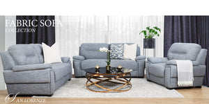 San Lorenze Fabric Sofa Suite | Leather Gallery