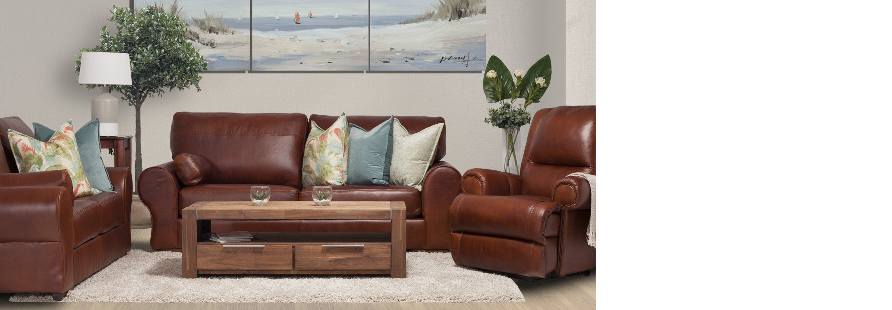 Leather furniture buy fabric sofa dining table leather for Ok furniture kitchen units