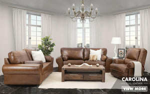 Carolina + Kalahari Full Genuine Leather | Pista Walnut | Leather Gallery