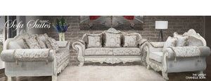 Chanelle Fabric Embossed Suite | Leather Gallery