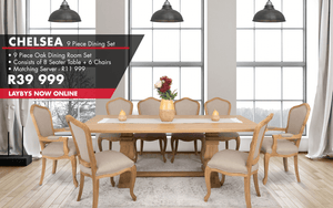 Chelsea 9 Piece Dining Set | Leather Gallery