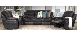 Genoa 5 Action Recliner | Black | Leather Gallery
