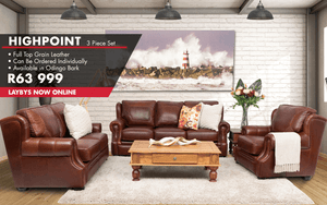 Highpoint 3 Piece Leather Sofa | Leather Gallery