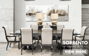 Sorrento 9 Piece Dining Suite | Leather Gallery