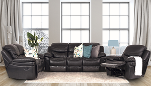 Genoa 3 Piece Genuine Leather Recliner Suite | Leather Gallery