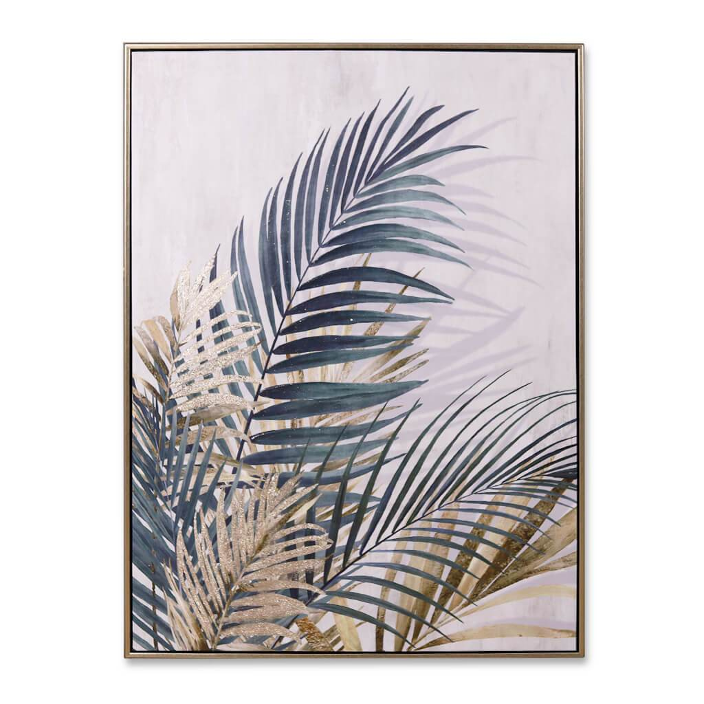 Painting | Golden Palms II | Leather Gallery