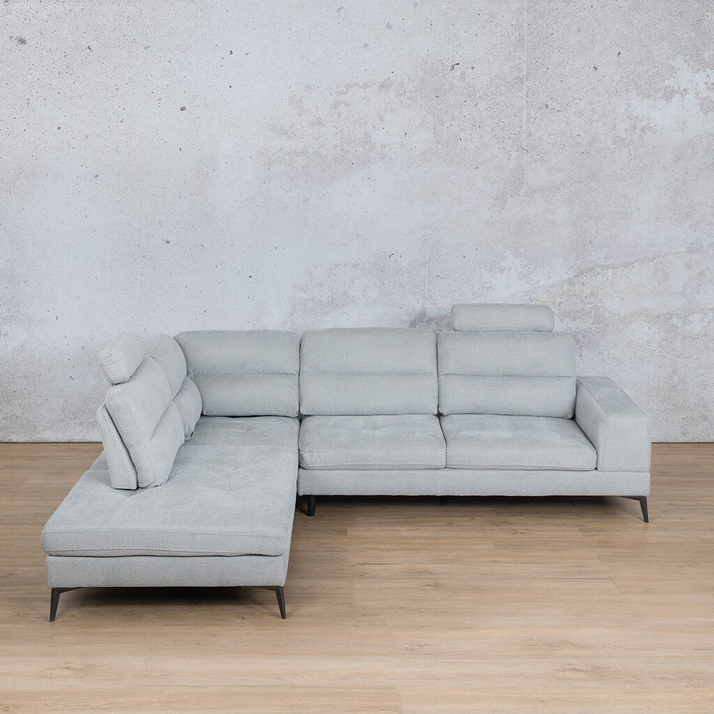 Malta Fabric Corner Couch | L-Sectional 5 Seater Couch | Silver Grey | Couches For Sale | Leather Gallery Couches
