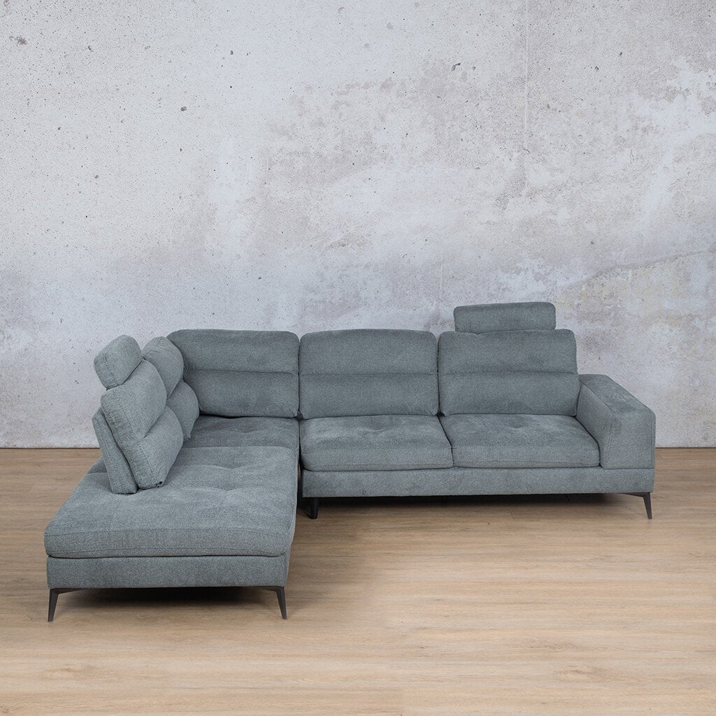 Malta Fabric | L-Sectional 5 Seater | Slate Grey | Leather Gallery