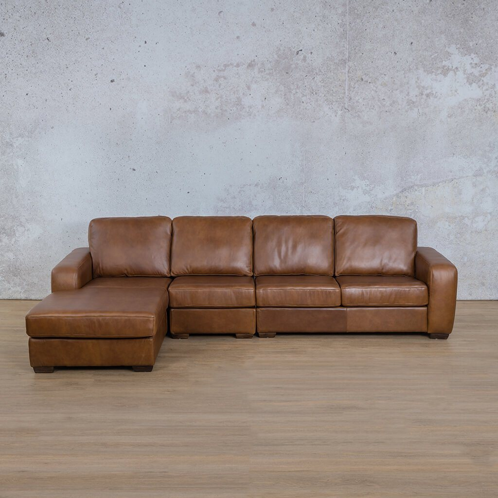 Starnford Leather Corner Couch | Modular Sofa Chaise-LHF | Fudge-S | Couches For Sale | Leather Gallery Couches