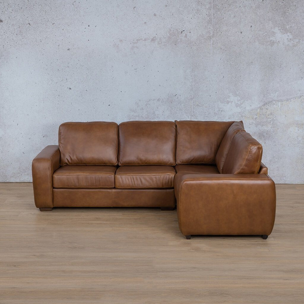 Starnford Leather Corner Couch | L-Sectional 4 Seater-RHF | Fudge-S | Couches For Sale | Leather Gallery Couches