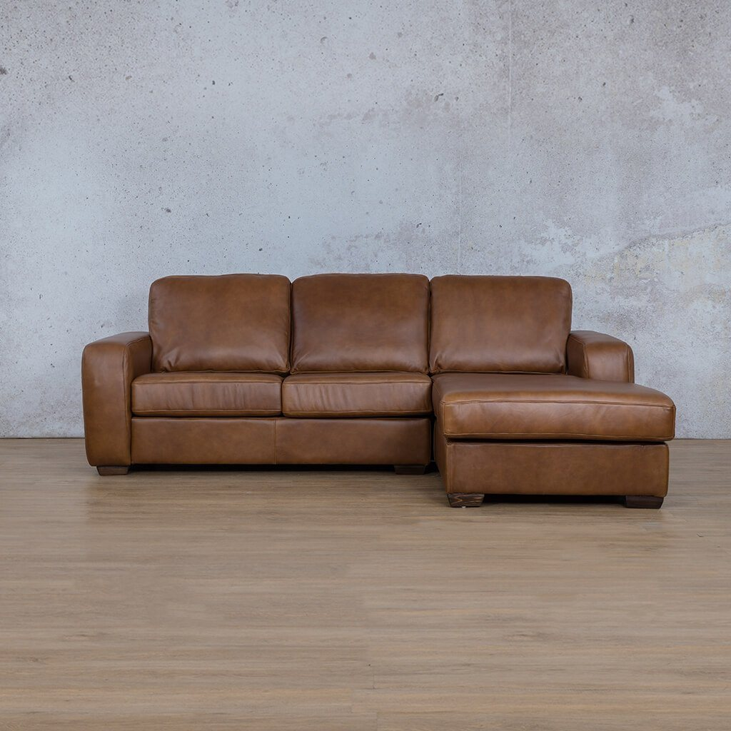 Starnford Leather Corner Couch | Sofa Chaise-RHF | Fudge-S | Couches For Sale | Leather Gallery Couches