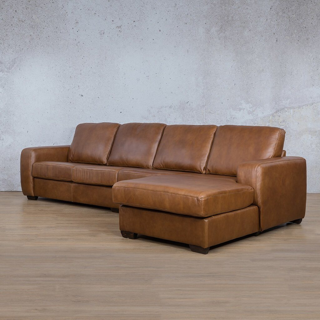Stanford Leather Modular Sofa Chaise - RHF