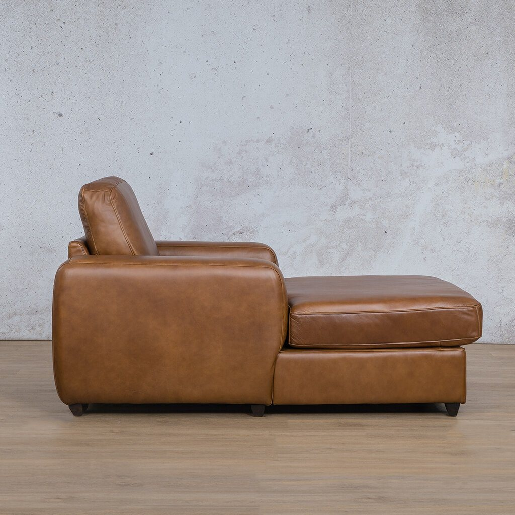 Starnford Leather Corner Couch | 2 Arm Chaise  | Fudge-S | Side | Couches For Sale | Leather Gallery Couches