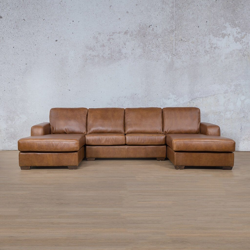 Starnford Leather Corner Couch | U-Chase Couch | Fudge-S | Couches For Sale | Leather Gallery Couches
